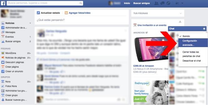 Nascondi / Rimuovi ultima connessione in Facebook Messenger 1