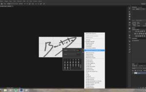 Come creare una firma in Photoshop? 9