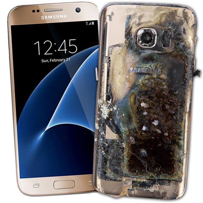 Telefoni Samsung che esplodono. Signori terra per terra! 1