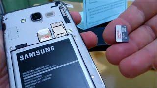 Come inserire una microSD o una scheda di memoria in Samsung Galaxy J2 Prime o J7 Prime 1