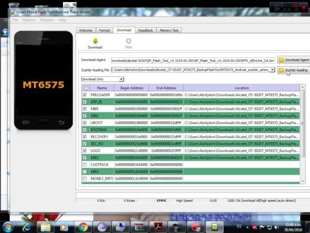 Come eseguire il root di Alcatel One Touch 7042a e Alcatel X1 7053D? 3