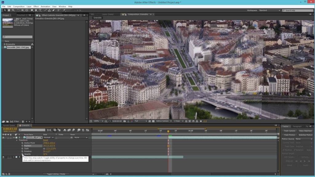 Come ingrandire After Effects? 1