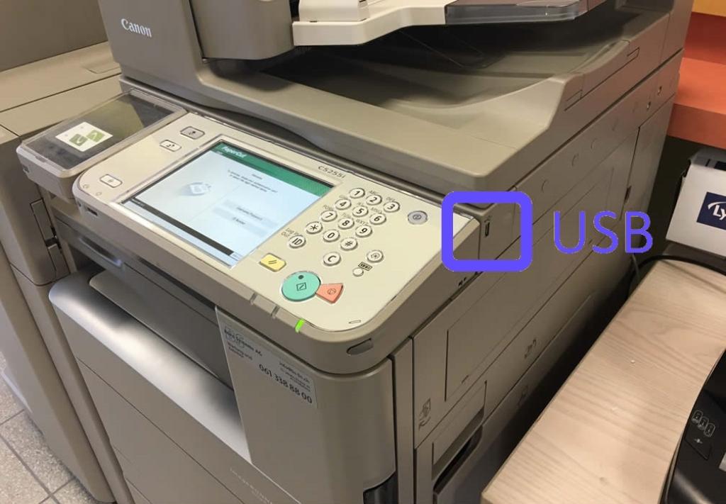 Come stampare da una memoria USB 1