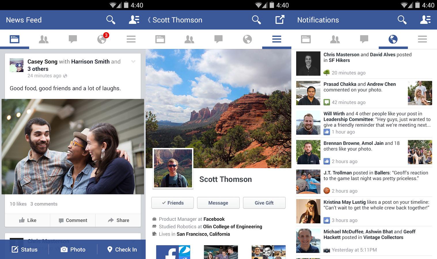 Avere il social network più utilizzato sul dispositivo quando si scarica Facebook APK 2