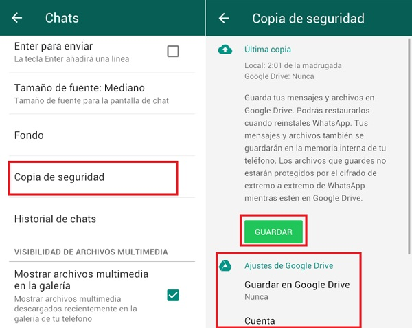 Come effettuare e ripristinare un backup di WhatsApp Messenger? Guida passo passo 3