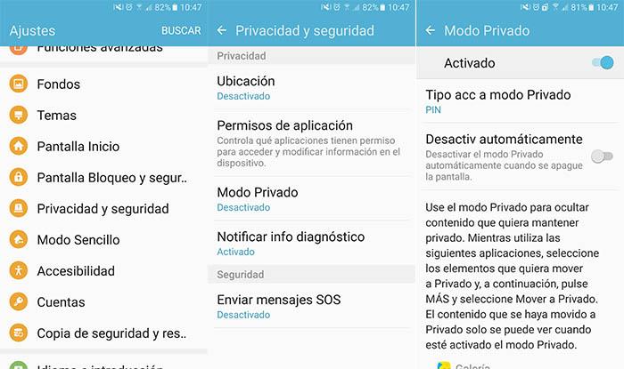 Come utilizzare la modalità privata sul Galaxy S7? 1