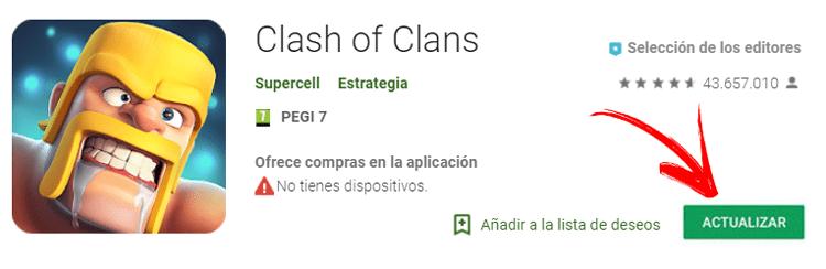 Come aggiornare Clash of Clans gratuitamente all'ultima versione? Guida passo passo 1