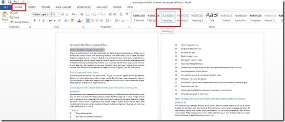 Come creare un indice in Microsoft Word 2013? Guida passo passo 2