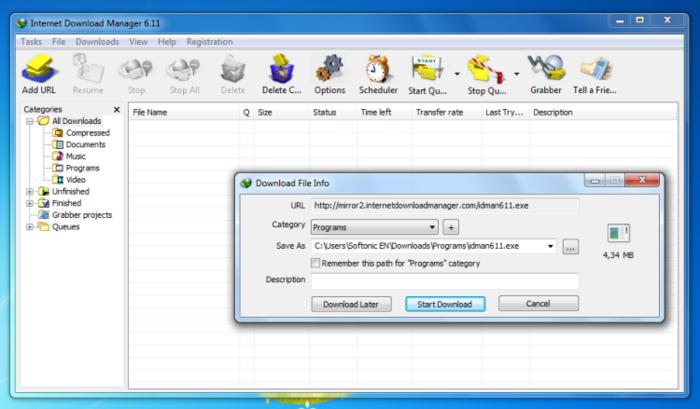 Alternative a Internet Download Manager 1