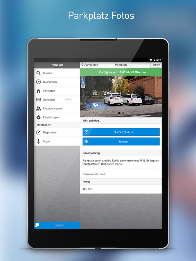 Scarica Ampido per Android. Trova facilmente il parcheggio 1