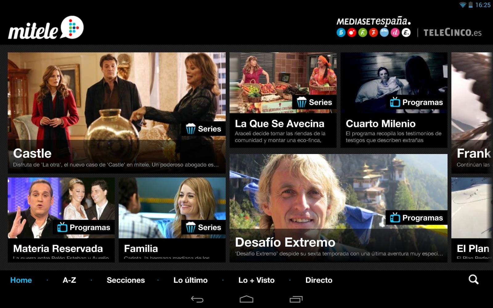 Mitele, la migliore applicazione per guardare Telecinco online 1