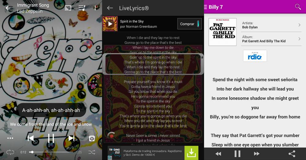 Le migliori app per i testi delle canzoni per Android 1