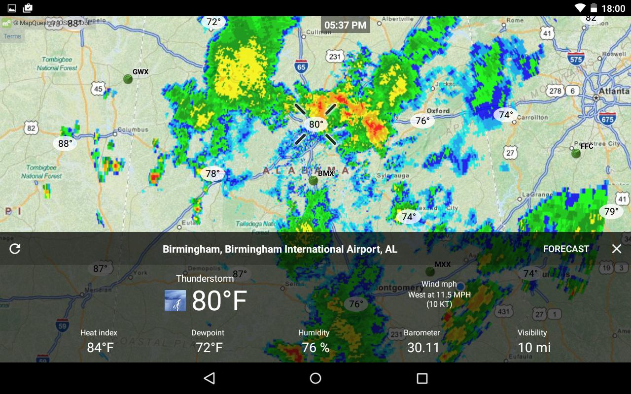 Le migliori applicazioni meteorologiche su Android 5