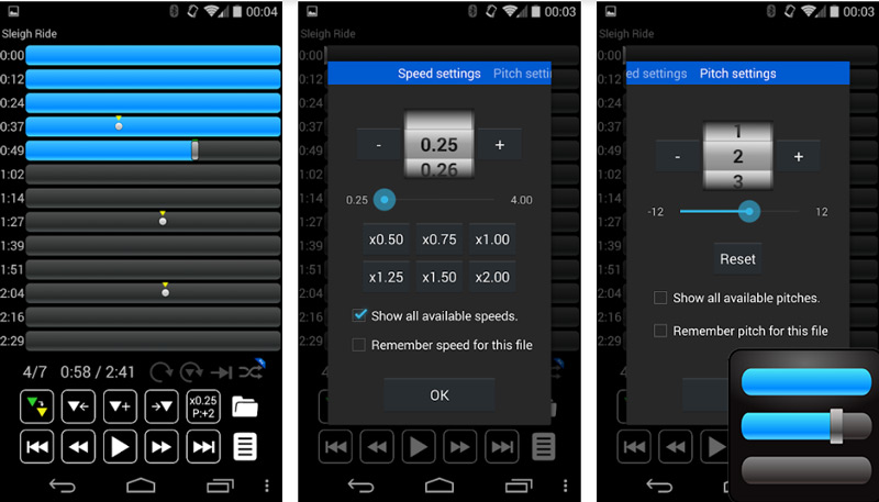Quali sono i migliori programmi e app per accelerare o rallentare la velocità di un brano? Elenco 2019 4