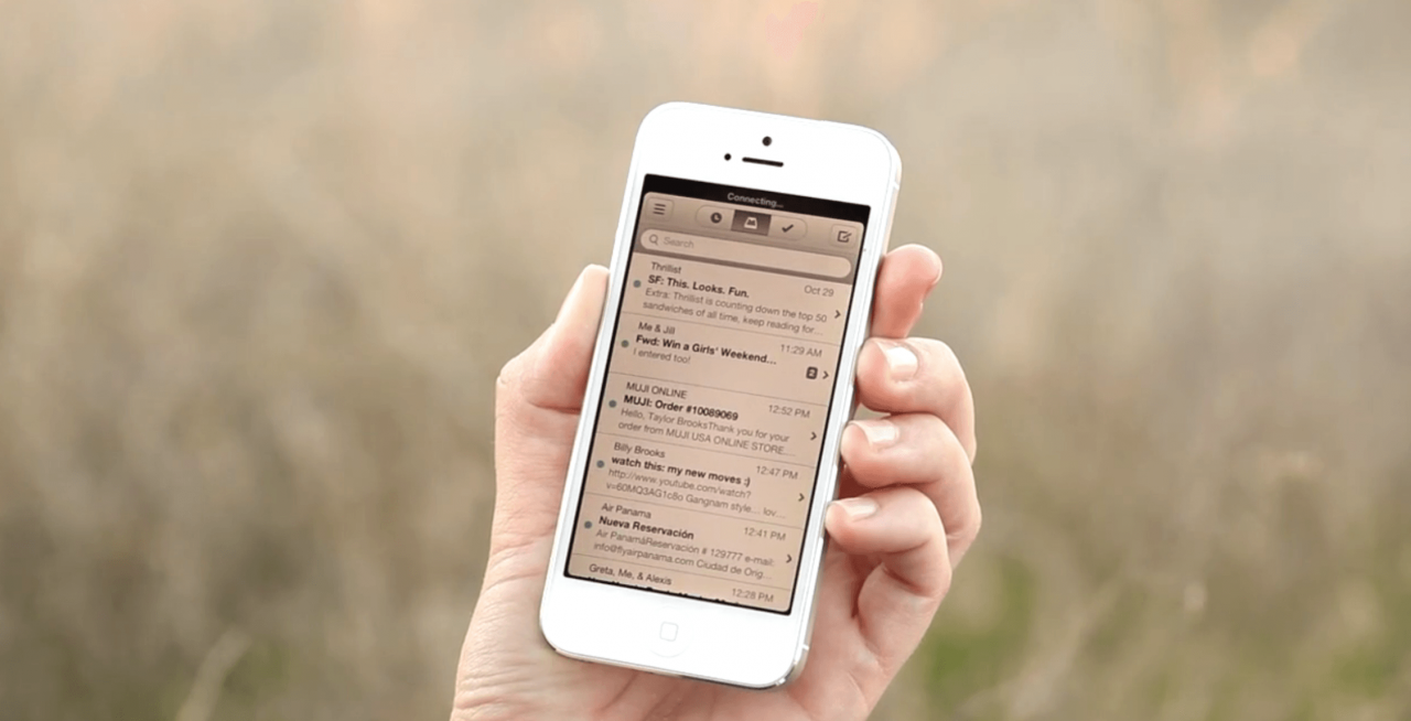 Come disabilitare Inbox su iPhone, senza eliminare l'account e-mail 1