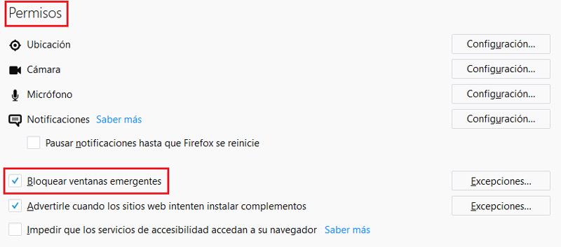 Come consentire o bloccare i popup o i popup nel browser? Guida passo passo 8