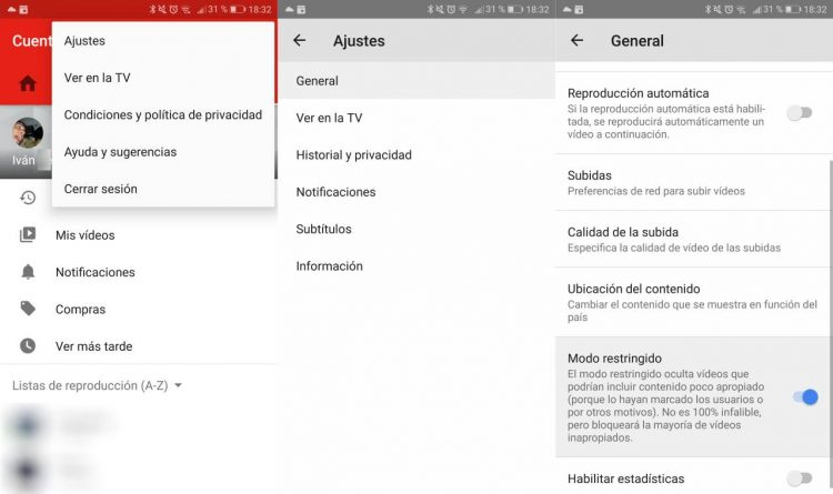 Come attivare la Modalità con restrizioni di YouTube su Android? 1