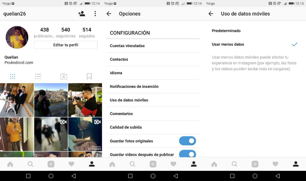 Come salvare i dati quando si utilizza Instagram 1