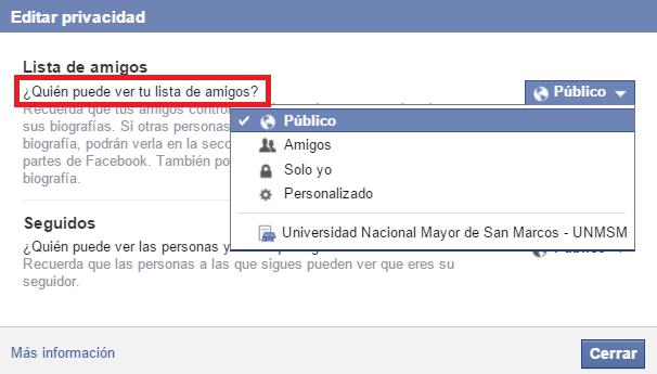 Come nascondere i MIEI amici di Facebook 3