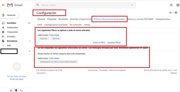 Come bloccare contatti e indirizzi nella posta Gmail ed evitare lo SPAM? Guida passo passo 14