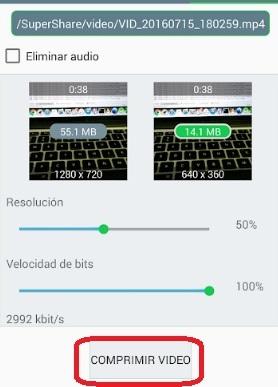 Come comprimere un video da inviare da WhatsApp Messenger? Guida passo passo 3