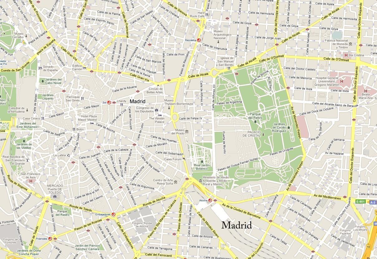 Le migliori pagine web della mappa stradale di Madrid 1