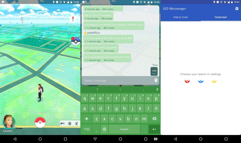 Chatta su Pokémon Go senza uscire dal gioco 2
