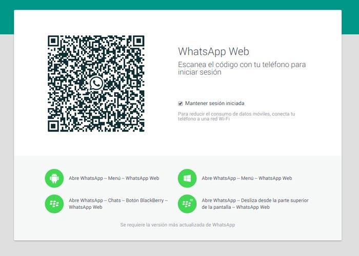 Come aggiornare WhatsApp Web 1