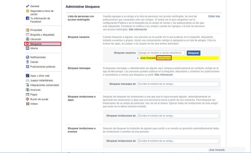 Come bloccare e sbloccare una persona o una pagina su Facebook? Guida passo passo 8