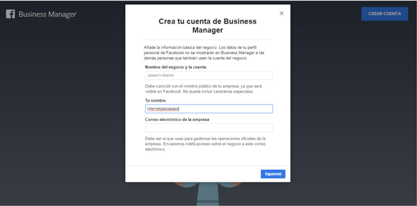 Come creare un account in Facebook Business Manager? Guida passo passo 2