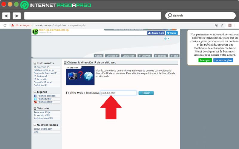 Come conoscere l'indirizzo IP di YouTube e di qualsiasi altro sito Web su Internet? Guida passo passo 8