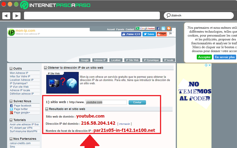Come conoscere l'indirizzo IP di YouTube e di qualsiasi altro sito Web su Internet? Guida passo passo 9