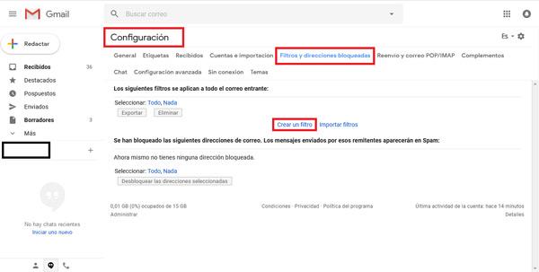 Come bloccare contatti e indirizzi nella posta Gmail ed evitare lo SPAM? Guida passo passo 5
