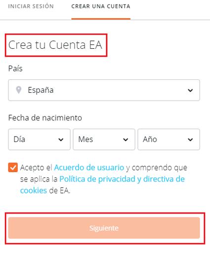 Come creare un account in EA Origin gratuitamente, facile e veloce? Guida passo passo 2