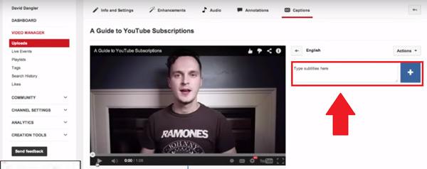 Come aggiungere e inserire i sottotitoli in un video di YouTube? Guida passo passo 2
