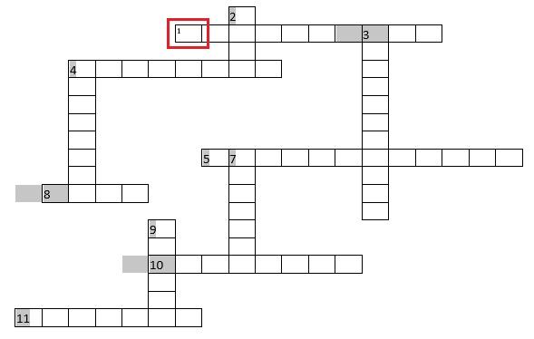 Come creare un cruciverba in Microsoft Word in modo rapido e semplice? Guida passo passo 11
