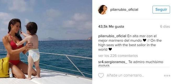 Qual è l'account Instagram ufficiale di Pilar Rubio 1