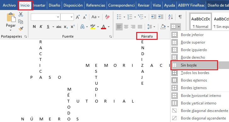 Come creare un cruciverba in Microsoft Word in modo rapido e semplice? Guida passo passo 7