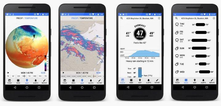 Scarica Dark Sky per Android. Per essere informato sul tempo in ogni momento 1