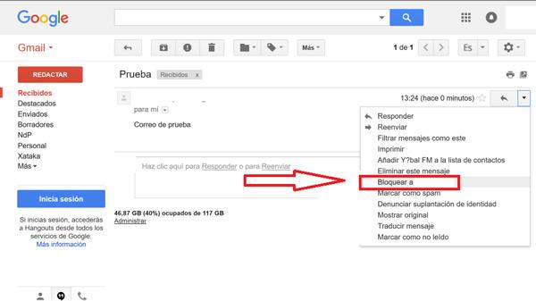 Come bloccare contatti e indirizzi nella posta Gmail ed evitare lo SPAM? Guida passo passo 3