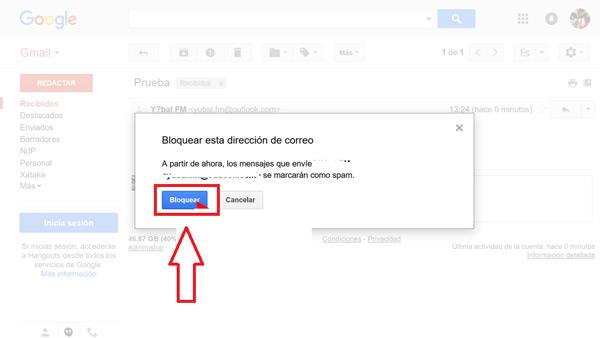 Come bloccare contatti e indirizzi nella posta Gmail ed evitare lo SPAM? Guida passo passo 4