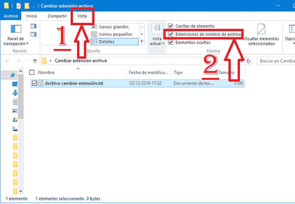 Come modificare l'estensione o il formato del file in Windows 10? Guida passo passo 5