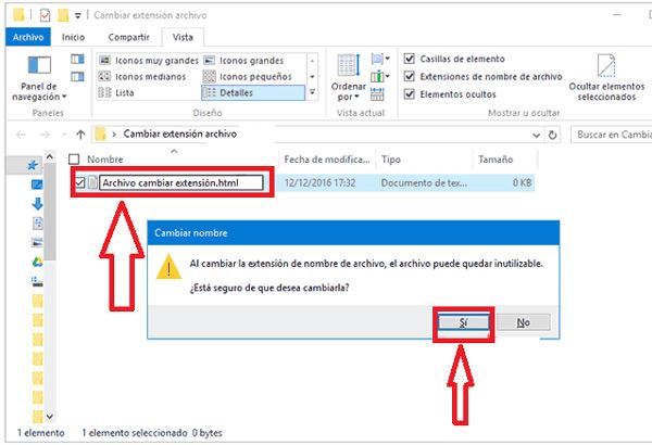 Come modificare l'estensione o il formato del file in Windows 10? Guida passo passo 6