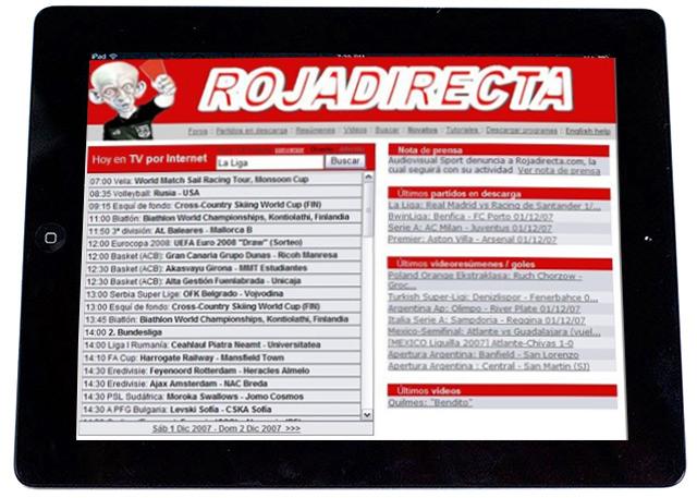 Scarica RojaDirecta per dispositivi mobili gratuitamente 1