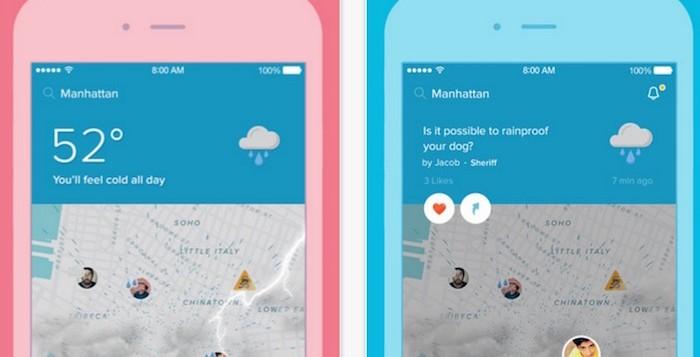 Scarica Sunshine su Android, l'app meteo 1
