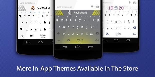 Scarica la tastiera del Real Madrid per Android gratuitamente 1