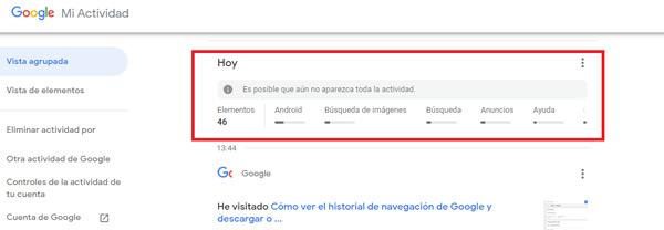 Cronologia di navigazione di Google Come visualizzare, configurare, eliminare e scaricare tutto? 5