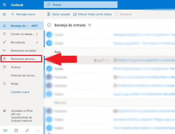 Come recuperare e-mail cancellate a lungo nel tuo account Hotmail? Guida passo passo 1