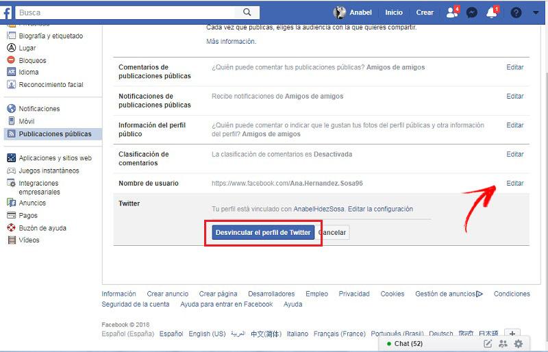 Come scollegare l'account Twitter di Facebook? Guida passo passo 2