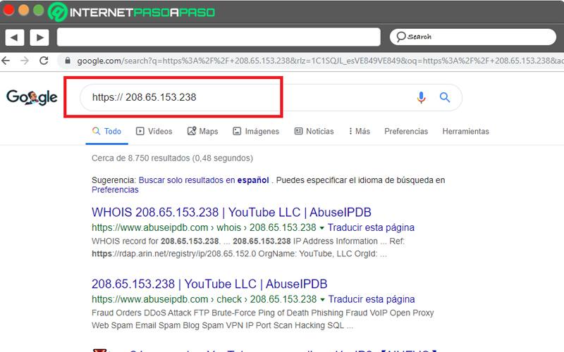 Come conoscere l'indirizzo IP di YouTube e di qualsiasi altro sito Web su Internet? Guida passo passo 1